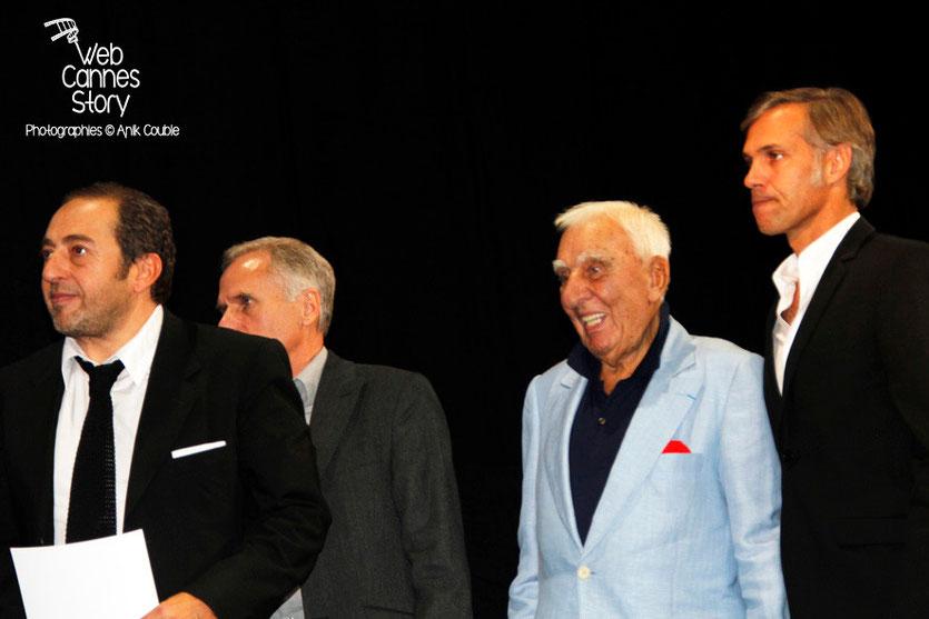 Patrick Timsit, Charles Gérard et Paul Belmondo - Festival Lumière - Lyon - Oct 2013 - Photo © Anik COUBLE