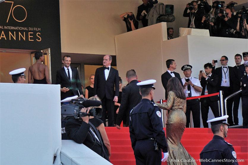 Mathieu Kassovitz, accueilli par Pierre Lescure pour assister à la cérémonie des 70 ans du Festival de Cannes - Festival de Cannes 2017 - Photo © Anik Couble