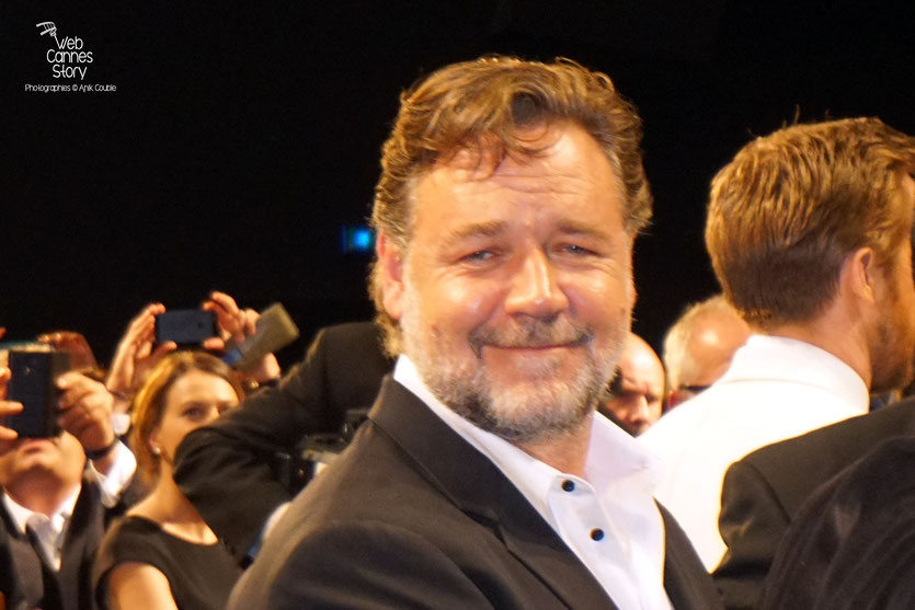 "Russell Crowe, lors de la projection du film "" The Nice Guys"" de Shane Black - Festival de Cannes 2016 - Photo © Anik Couble"