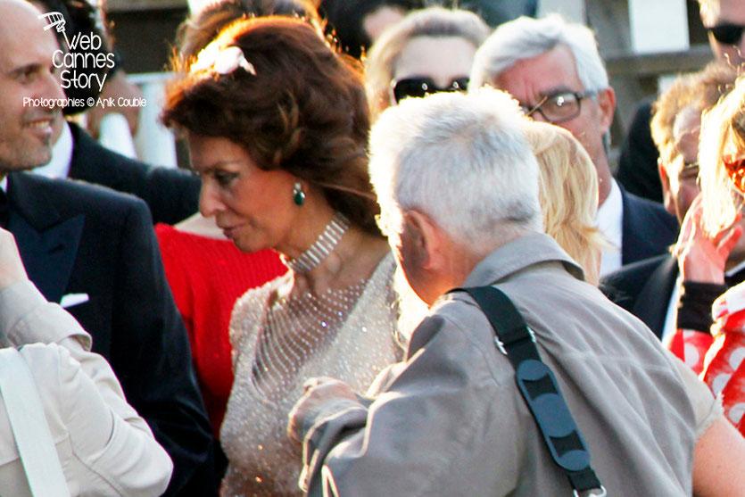 Sophia Loren, lors la présentation du film «Mariage à l'Italienne» de Vittorio de Sica - Festival de Cannes 2014 - Photo © Anik COUBLE