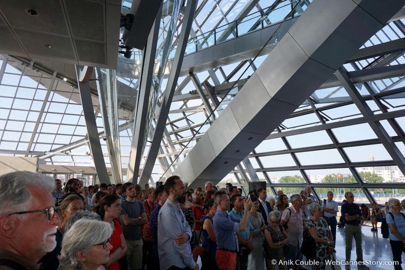 Le public,  lors du vernissage de l'exposition Lumière !  Le cinéma inventé - Musée des Confluences - Lyon - juin 2017 - Photo © Anik Couble