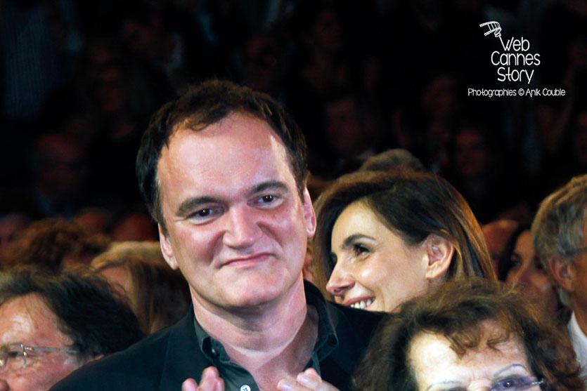 Quentin Tarantino, lors de l'hommage à Jean-Paul Belmondo - Festival Lumière - Lyon - Oct 2013 - Photo © Anik COUBLE