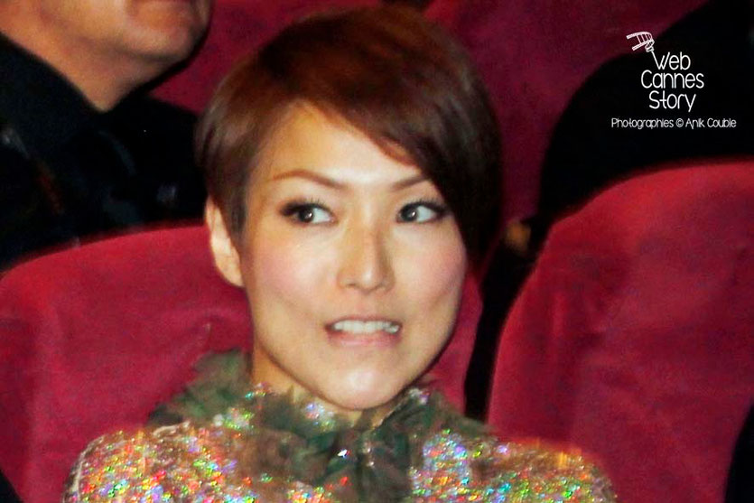 "Sammi Cheng, lors de la projection du film ""Blind Detective"" de Johnnie To - Festival de Cannes 2013 - Photo © Anik COUBLE"