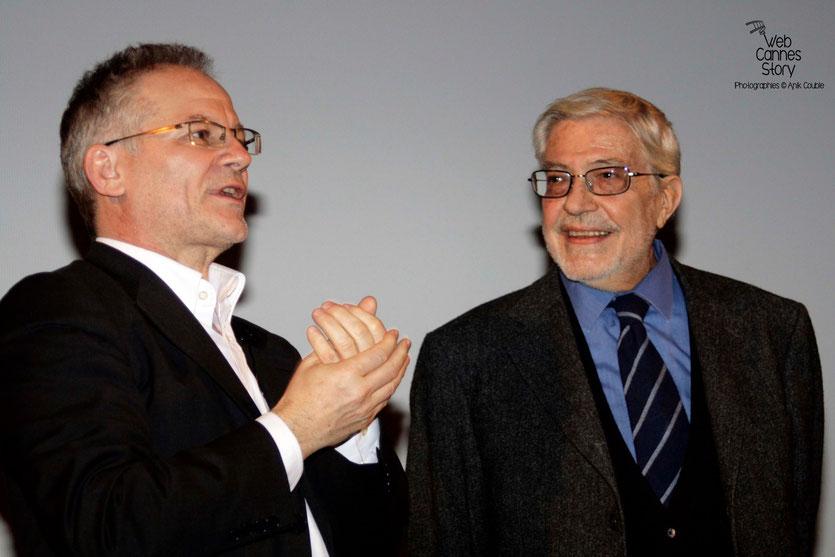 Ettore Scola  et Thierry Frémaux - Institut Lumière - Lyon - 29 avril 2009 - Photo © Anik Couble