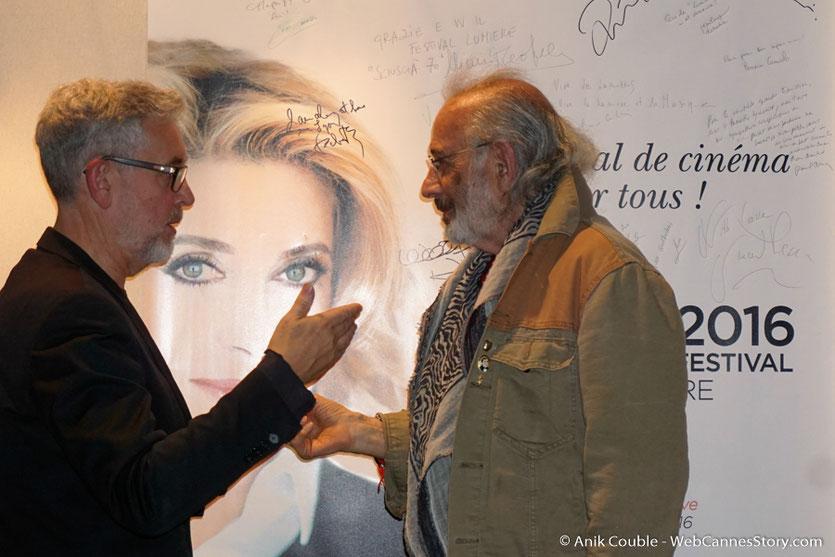 """Jerry Schatzberg et Yves Bongarçon, à  """"La Grande Emission"""" de Radio Lumière - Festival Lumière 2016 - Lyon - Photo © Anik Couble"""