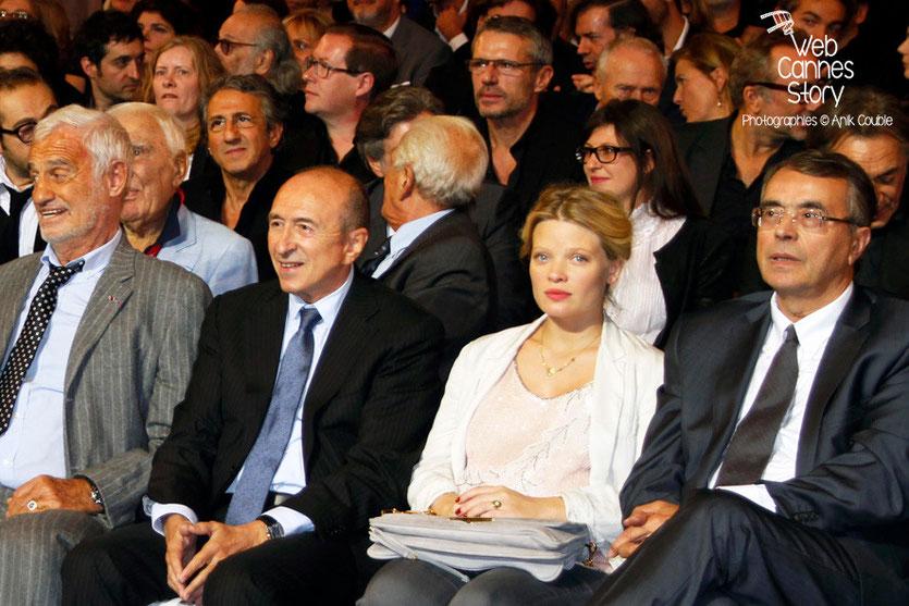 Jean-Paul Belmondo, Gérard Collomb, Mélanie Thierry et Jean-Jack Queyranne - Festival Lumière - Lyon - Oct 2013 - Photo © Anik COUBLE