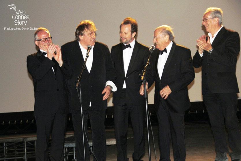 L'équipe du film «United Passions» de  Frédéric Auburtin, au Cinéma de la Plage - Festival de Cannes 2014 - Photo © Anik COUBLE