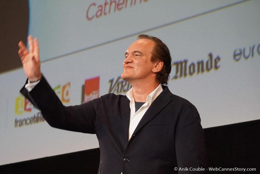 Quentin Tarantino, sur la scène de la Halle Tony Garnier - Cérémonie d'ouverture - Festival Lumière 2016 - Lyon - Photo © Anik Couble