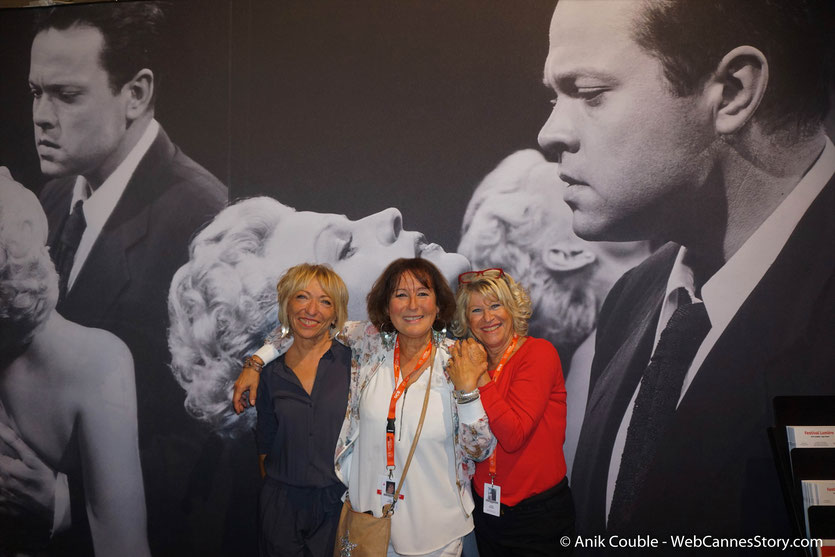 En compagnie de mes amis bénévoles, Annie Constance et Annie, lors du Festival Lumière 2018,  à Lyon - Photo © Anik Couble