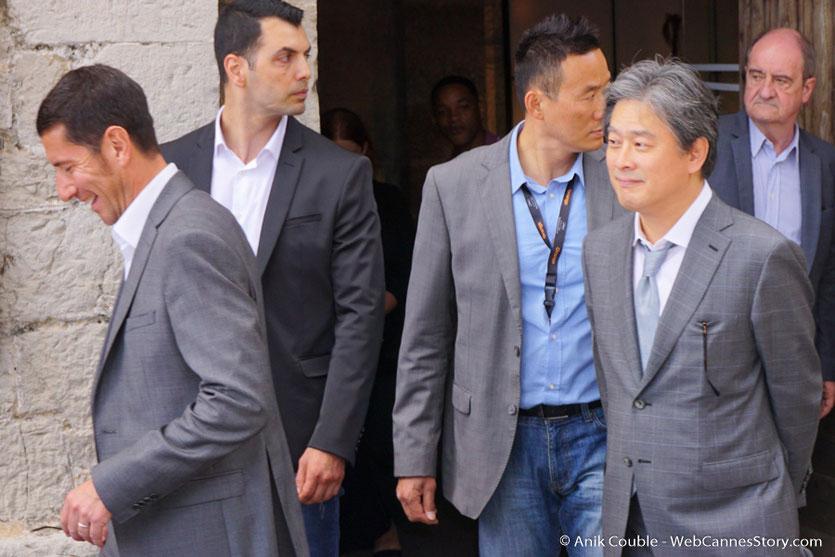 Le prince de la Croisette, Will Smith et Paolo Sorrentino, membres du Jury, lors de l'aïoli, le traditionnel déjeuner de presse, offert par le Maire de Cannes - Festival de Cannes 2017 - Photo © Anik Couble