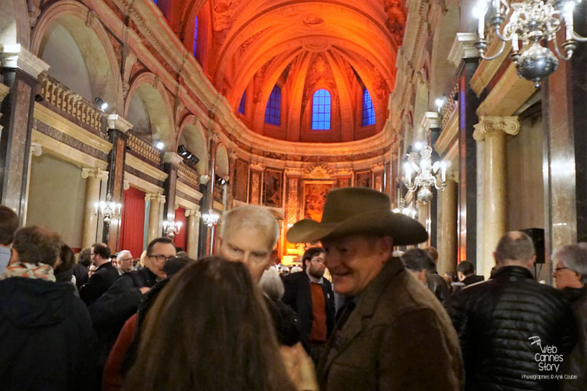 Craig Johnson, lors du cocktail d'ouverture à la Chapelle de la Trinité - Quais du Polar 2016 - Lyon - Photo © Anik Couble