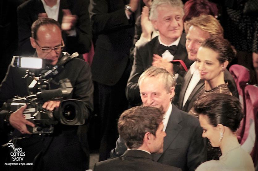 """Dario Argento, Asia Argento et Marta Gastini, lors de la projection du film """"Dario Argento Dracula"""" de Dario Argento  - Festival de Cannes 2012 - Photo  © Anik Couble"""