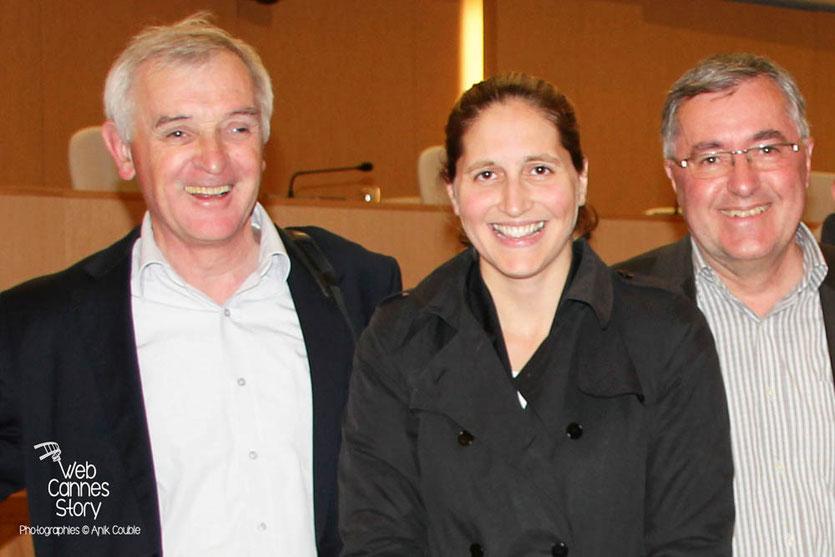 Jean Jouzel, Cynthia Fleury et Alain Chabrolle  - Lyon - 0ctobre 2011  © Anik COUBLE