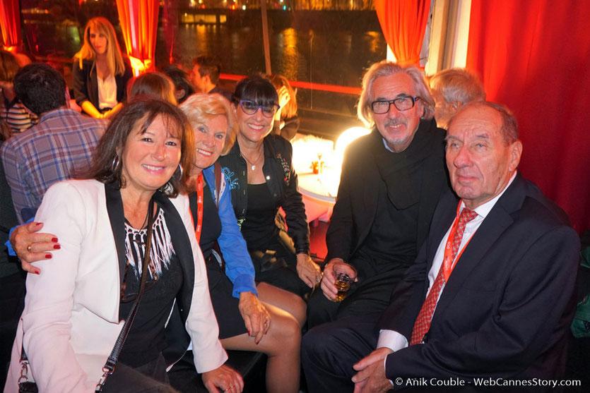 Agréable soirée à La Plateforme en compagnie de Max Lefrancq-Lumière et son épouse Michèle ainsi que Robert Barnouin et son épouse Monique - Festival Lumière 2016 - Lyon - Photo © Anik Couble