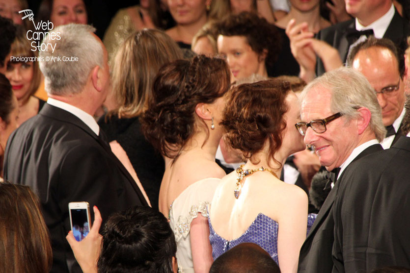 Ken Loach, lors de la présentation de son film «Jimmy's Hall» - Festival de Cannes 2014 - Photo © Anik COUBLE