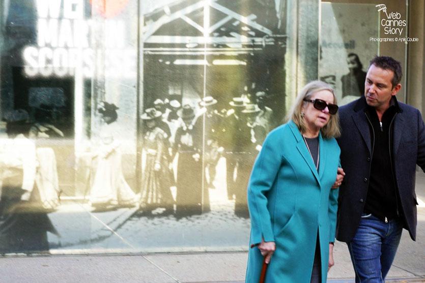 """Helen Morris, épouse de  Martin Scorsese, lors du remake de """"Sortie d'Usine"""" dirigé par Martin Scorsese - Lyon - Festival Lumière 2015 - Photo © Anik COUBLE"""