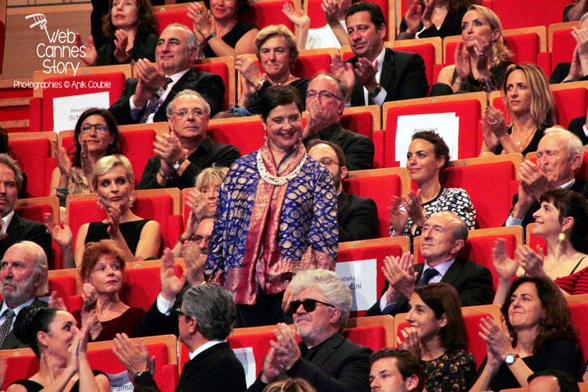 Isabella Rossellini, lors de la cérémonie de remise du Prix Lumière à Pedro Almodovar - Festival Lumière - Lyon - Oct 2014 - Photo © Anik COUBLE