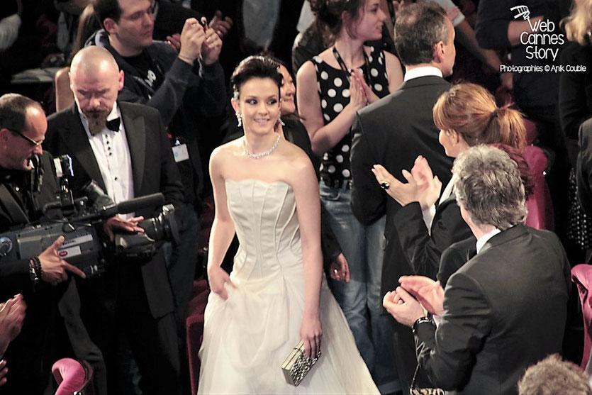 """Marta Gastini, lors de la projection du film """"Dario Argento Dracula"""" de Dario Argento  - Festival de Cannes 2012 - Photo  © Anik Couble"""