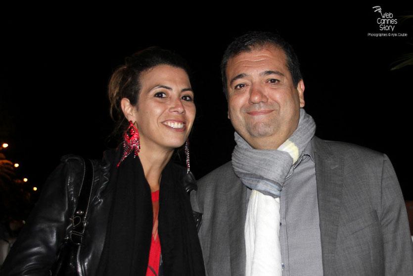 Didier Allouche, en compagnie de Maya Meddeb - Festival de Cannes 2015 - Photo © Anik Couble