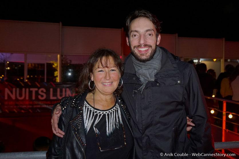 En compagnie de mon neveu Gabriel, lors d'une très festive soirée à La Plateforme - Nuits Lumière - Festival Lumière 2016 - Lyon - Photo © Anik Couble
