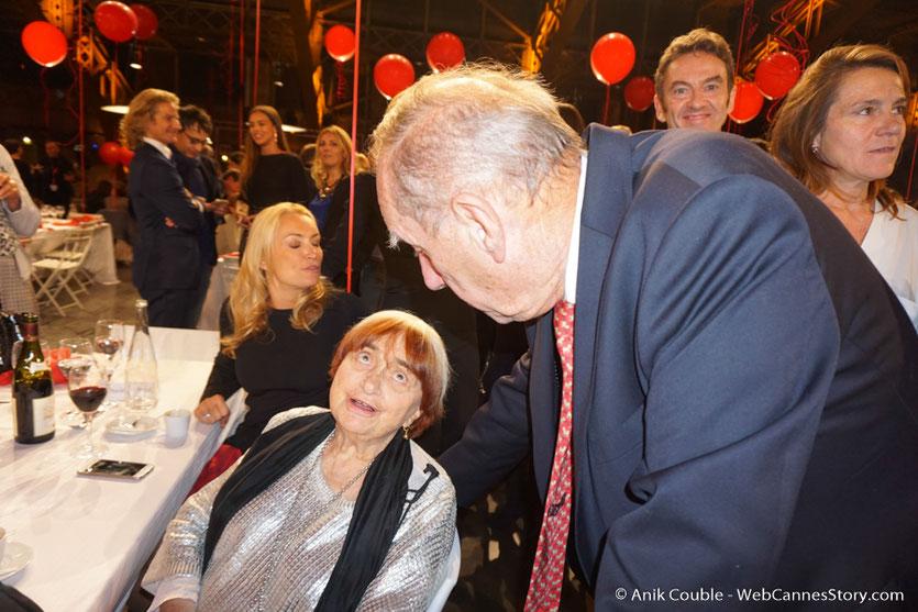 Max Lefrancq-Lumière, petit-fils de Louis Lumière, en conversation avec Agnès Varda  - Lyon - Dîner d'ouverture  - Festival Lumière 2016 - Photo © Anik Couble
