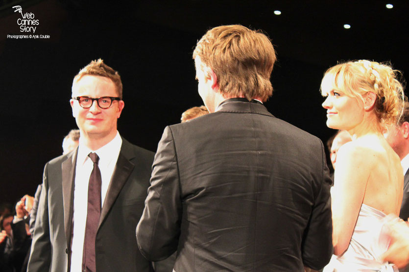 "Nicolas Winding Refn, lors de la projection de son film  ""Drive"" - Festival de Cannes 2011 - Photo  © Anik Couble"