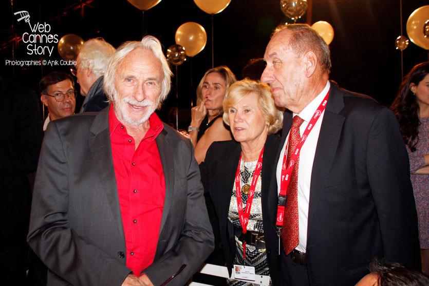 Max Lefrancq-Lumière, son épouse Michèle et Pierre Richard - Festival Lumière - Lyon - Octobre 2013 - Photo © Anik COUBLE