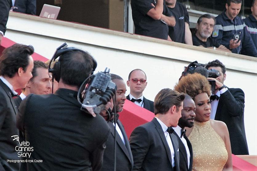 """L'équipe du film """" The Paperboys """" de Lee Daniels dont Matthew McConaughey, Lee Daniels, Zac Efron, David Oyelowo et Macy Gray - Festival de Cannes 2012 - Photo  © Anik Couble"""