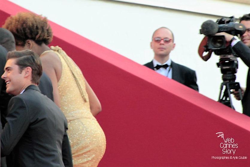 """Arrivéé sur les marches  de l'équipe du film """" The Paperboys """" de Lee Daniels, dont Zac Efron et Macy Gray - Festival de Cannes 2012 - Photo  © Anik Couble"""