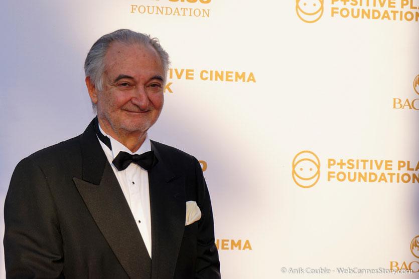 Jacques Attali, fondateur de la Semaine du Cinéma Positif, lors du dîner de gala de la Fondation Positive Planet et de la remise des prix de la Positive Cinema Week 2017 - Festival de Cannes 2017 - Photo © Anik Couble