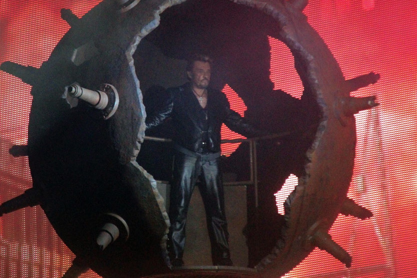Concert de Johnny Hallyday au stade de Gerland  à Lyon - Juin 2012 © Anik Couble