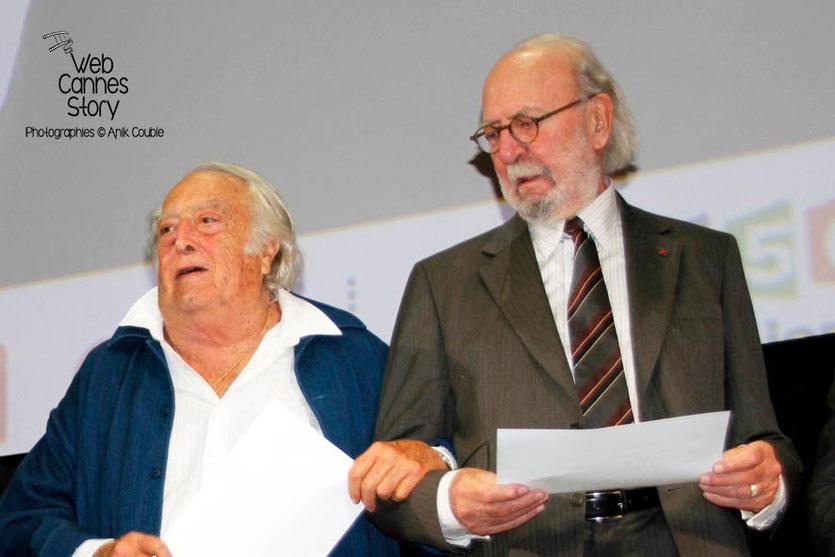 Charles Lautner et Jean-Pierre Marielle - Festival Lumière - Lyon - Oct 2013 - Photo © Anik COUBLE
