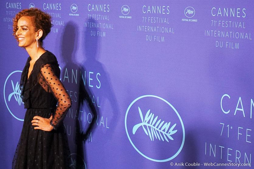 Leïla Slimani, souriante et pétillante - Soirée d'ouverture - Festival de Cannes 2018  - Photo © Anik Couble