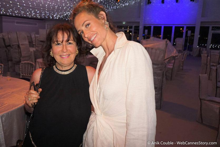 Ma chaleureuse rencontre avec Cécile de France, à l'issue de la projection du film de Asghar Farhadi - Todos lo saben (Everybody Knows), présenté en ouverture du Festival de Cannes 2018 - Photo © Anik Couble