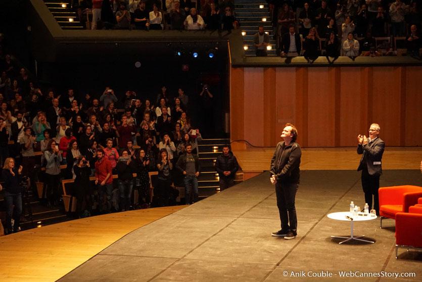 Quentin Tarantino et Thierry Frémaux  lors de la Master Class de Quentin Tarantino - Festival Lumière 2016 - Auditorium de Lyon - Photo © Anik Couble
