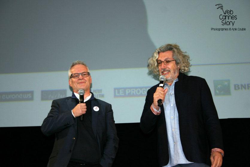 Alain Chabat et Thierry Frémaux - Nuit de la Peur -  Festival Lumière - Lyon - Octobre 2015 - Photo © Anik COUBLE