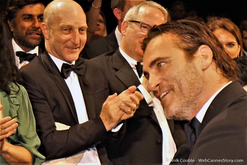 """Joachim Phoenix, lors de la projection du film, """"You were never really here"""", de Lyne Ramsay - Festival de Cannes 2017 - Photo © Anik Couble"""