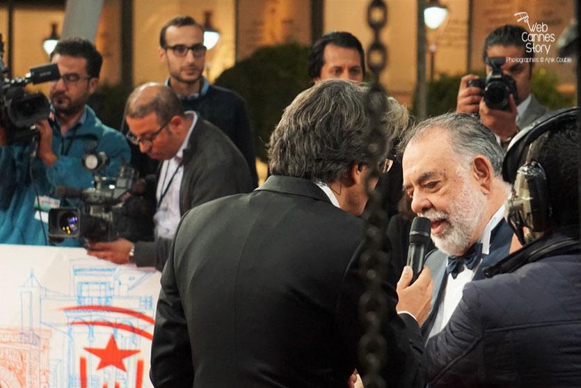 Francis Ford Coppola, président du Jury du Festival de Marrakech( FIFM), avant l'annonce du Palmarès -  Festival de Marrakech  2015 - Photo © Anik Couble