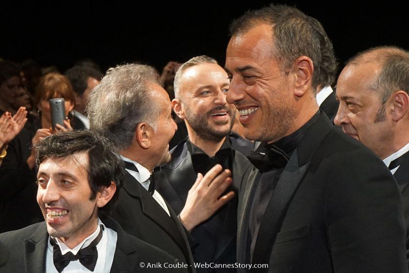 Matteo Garrone  en compagnie de Marcello Fonte, l'acteur principal de son film,  Dogman, présenté, le 16 mai  2018, en sélection officielle - Festival de Cannes 2018 - Photo © Anik Couble