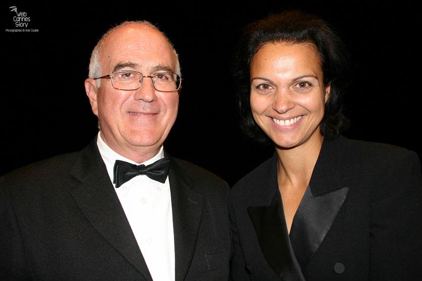 """Raymond Haïk et Isabelle Giordano, dans le public, lors de la projection du film """" La Princesse de Montpensier """"  de Bertrand Tavernier - Festival de Cannes 2010 - Photo © Anik Couble"""