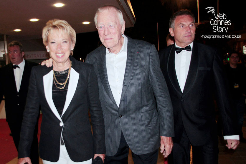 Max Von Sydow et son épouse - Festival de Cannes 2013 - Photo © Anik Couble