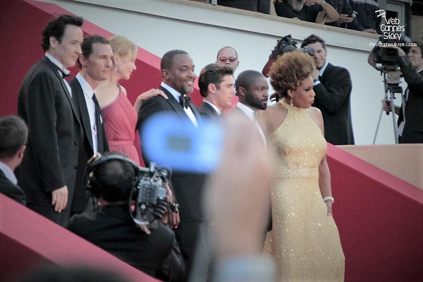 """L'équipe du film """" The Paperboys """" de Lee Daniels dont John Cusack, Matthew McConaughey, Nicole Kidman, Lee Daniels, Zac Efron, David Oyelowo et Macy Gray - Festival de Cannes 2012 - Photo  © Anik Couble"""