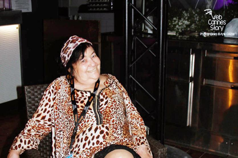 """La tendre et attachante Pascaline Benito, pendant l'exposition """"GRRRRR !!! Sur la piste des femmes panthères"""", lors de la soirée du Film « Welcome to New York » d'Abel Ferrara - Festival de Cannes 2014 - Photo © Anik COUBLE"""