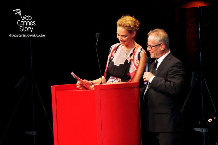 Uma Thurman et Thierry Fremaux - Remise du Prix Lumière -  Festival Lumière - Lyon - Oct 2013 - Photo © Anik COUBLE