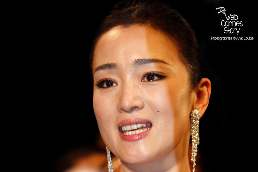 Gong Li, lors de la présentation du film «Coming Home» de Zhang Yimou - Festival de Cannes 2014 - Photo © Anik COUBLE