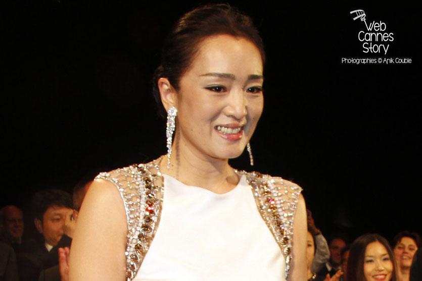Gong Li, lors de la présentation du film «Coming Home» de Zhang Yimou - Festival de Cannes 2014 - Photo © Anik COUBLE