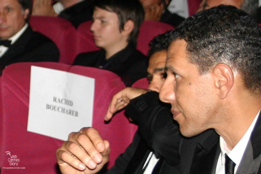 """Roschdy Zem et Jamel Debbouze, lors de la projection du film """"Hors la loi""""  de Rachid Bouchareb - Festival de Cannes 2010 - Photo © Anik Couble"""