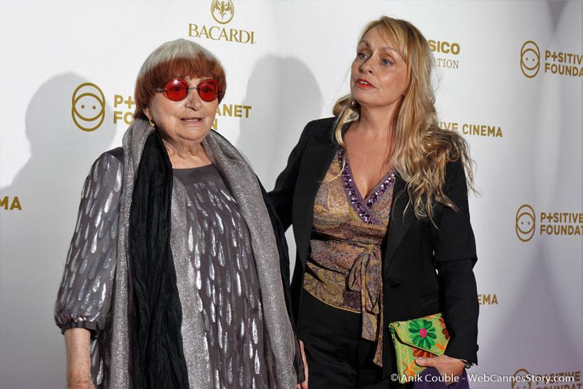 Agnès Varda et  sa fille Rosalie, lors du dîner de gala de la Fondation Positive Planet et de la remise des prix de la Positive Cinema Week 2017 - Festival de Cannes 2017 - Photo © Anik Couble