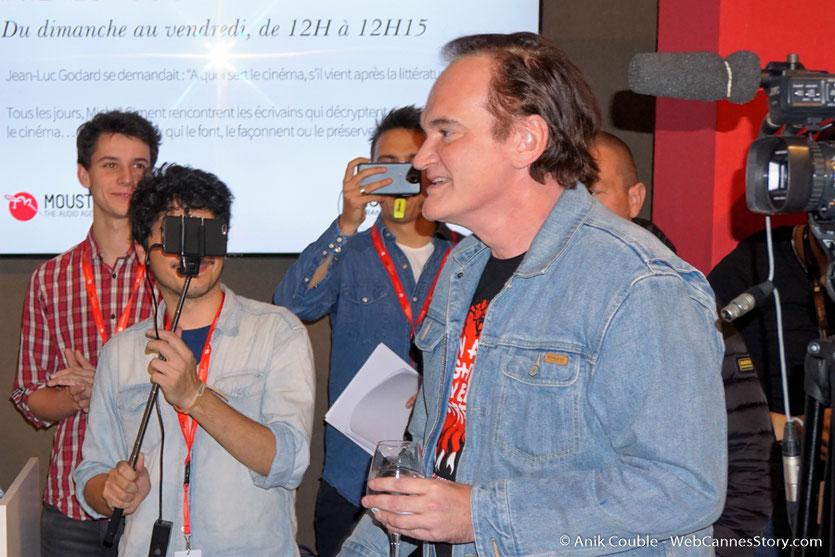 """Quentin Tarantino, invité  à """"La Grande Emission"""" de Radio Lumière - Festival Lumière 2016 - Lyon - Photo © Anik Couble"""