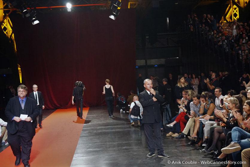 Guillermo del Toro, lors de la cérémonie d'ouverture du Festival Lumière 2017, à Lyon - Photo © Anik Couble
